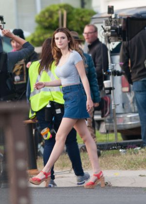 Bella Thorne in Mini Skirt On You Get Me -38