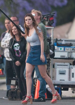 Bella Thorne in Mini Skirt On You Get Me -39