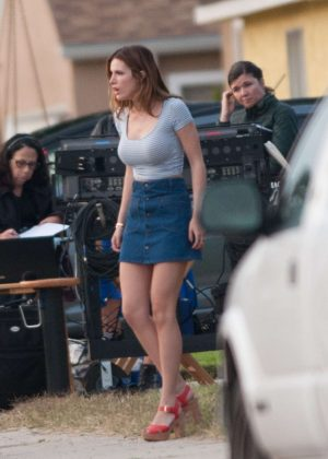 Bella Thorne in Mini Skirt On You Get Me -40