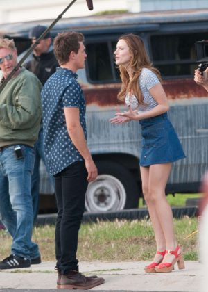 Bella Thorne in Mini Skirt On You Get Me -42
