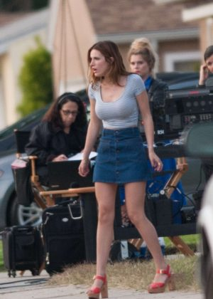 Bella Thorne in Mini Skirt On You Get Me -43
