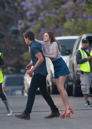 Bella Thorne in Mini Skirt On You Get Me -44