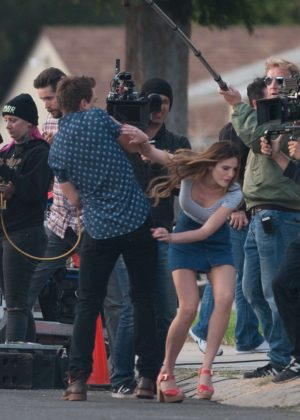 Bella Thorne in Mini Skirt On You Get Me -45