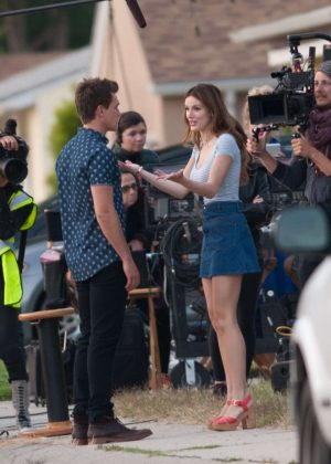 Bella Thorne in Mini Skirt On You Get Me -46