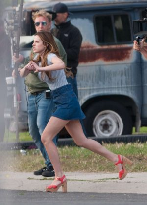 Bella Thorne in Mini Skirt On You Get Me -49