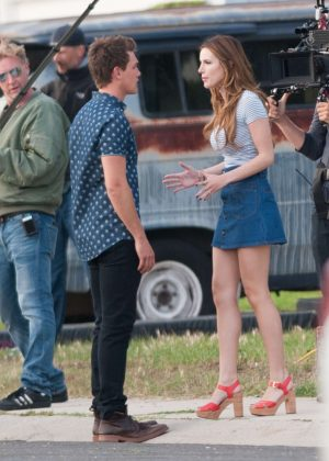 Bella Thorne in Mini Skirt On You Get Me -50