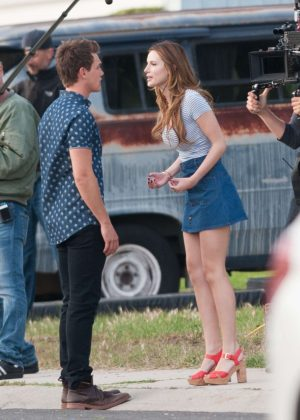 Bella Thorne in Mini Skirt On You Get Me -51