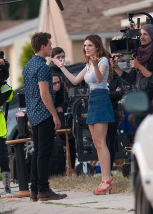 Bella Thorne in Mini Skirt On You Get Me -52