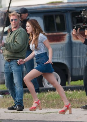 Bella Thorne in Mini Skirt On You Get Me -54