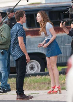 Bella Thorne in Mini Skirt On You Get Me -55