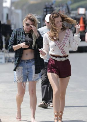 Bella Thorne in Red Shorts On You Get Me -02
