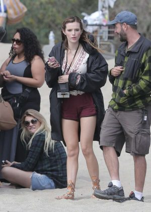 Bella Thorne in Red Shorts On You Get Me -08