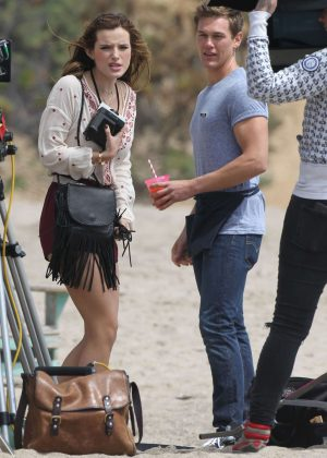 Bella Thorne in Red Shorts On You Get Me -10