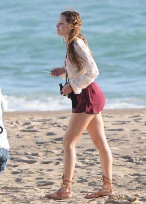 Bella Thorne in Red Shorts On You Get Me -16