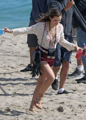 Bella Thorne in Red Shorts On You Get Me -19