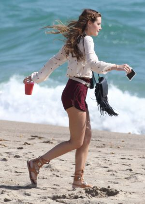 Bella Thorne in Red Shorts On You Get Me -21