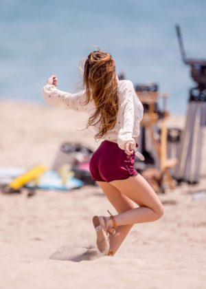 Bella Thorne in Red Shorts On You Get Me -27