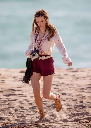 Bella Thorne in Red Shorts On You Get Me -32