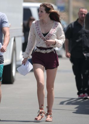 Bella Thorne in Red Shorts On You Get Me -33