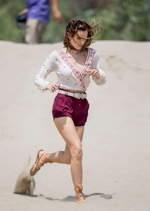 Bella Thorne in Red Shorts On You Get Me -38