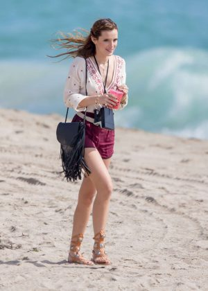 Bella Thorne in Red Shorts On You Get Me -40