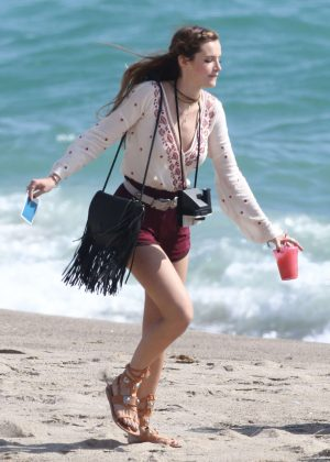 Bella Thorne in Red Shorts On You Get Me -41