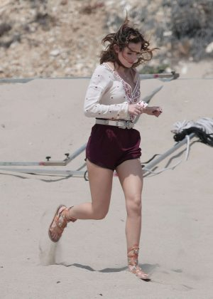 Bella Thorne in Red Shorts On You Get Me -42