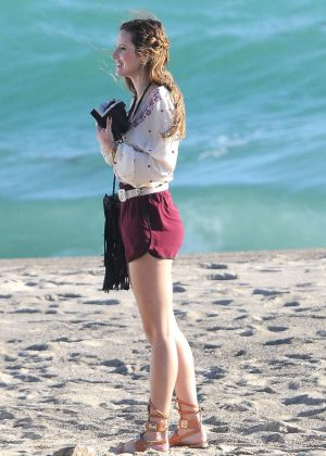 Bella Thorne in Red Shorts On You Get Me -44