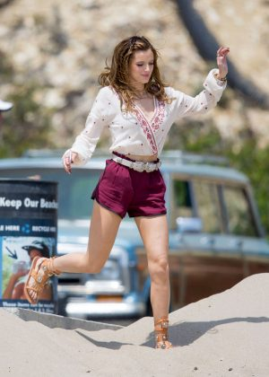 Bella Thorne in Red Shorts On You Get Me -45
