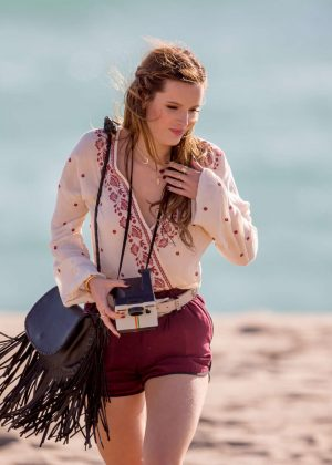 Bella Thorne in Red Shorts On You Get Me -47