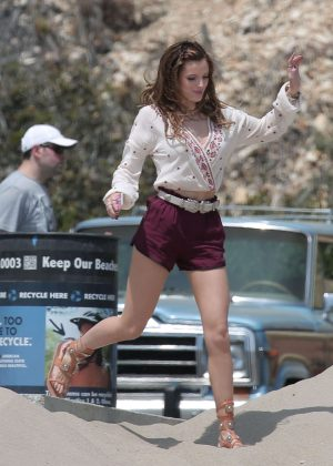 Bella Thorne in Red Shorts On You Get Me -50