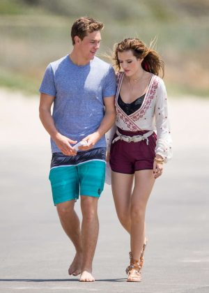 Bella Thorne in Red Shorts On You Get Me -54