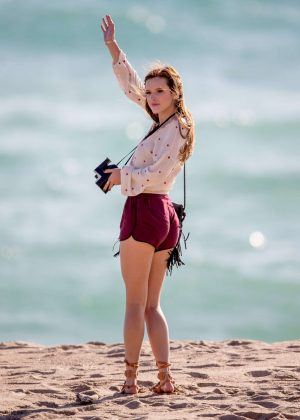 Bella Thorne in Red Shorts On You Get Me -66