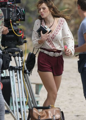 Bella Thorne in Red Shorts On You Get Me -67