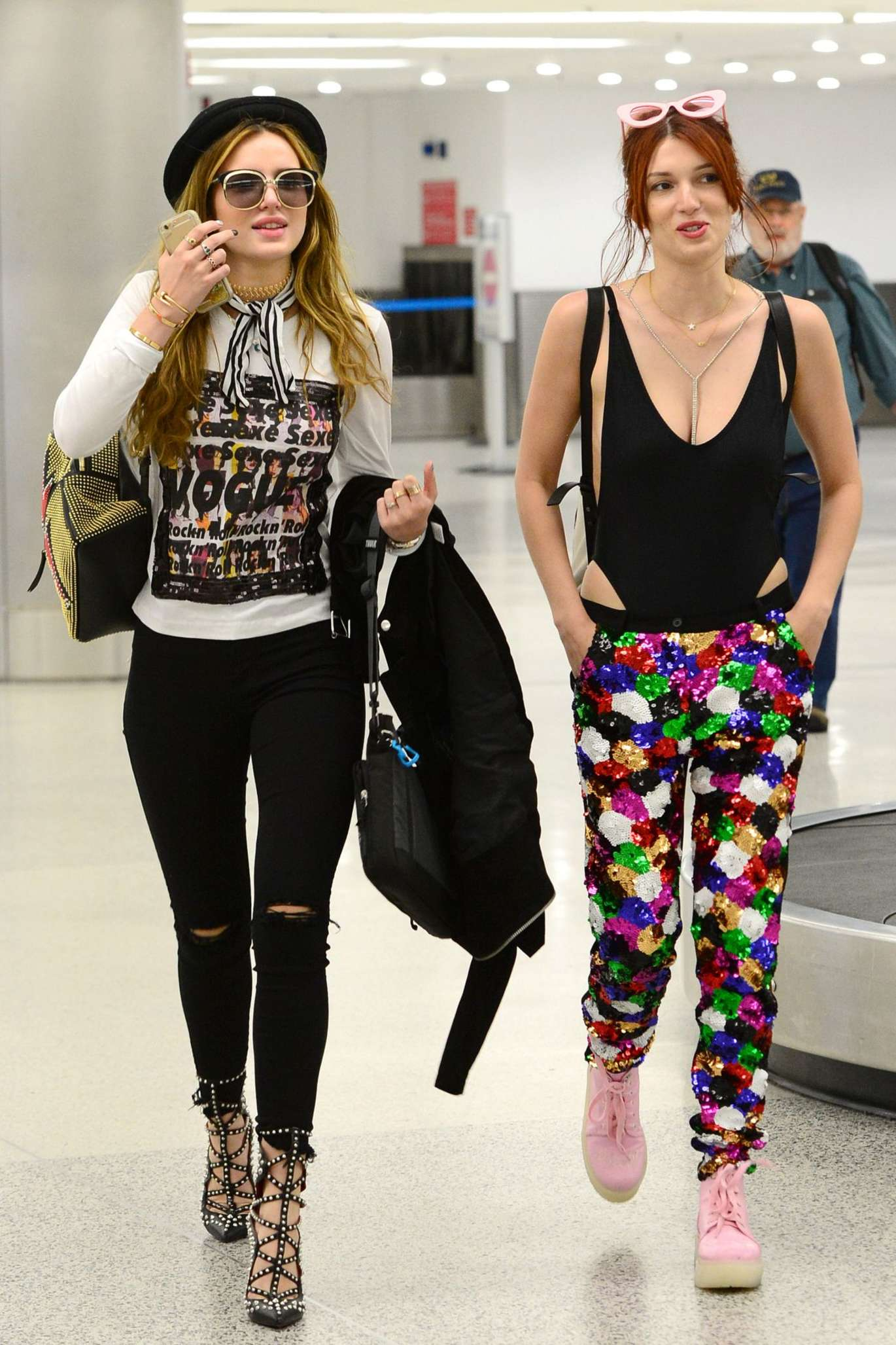 Bella Thorne in Tight Jeans at Airport in Miami