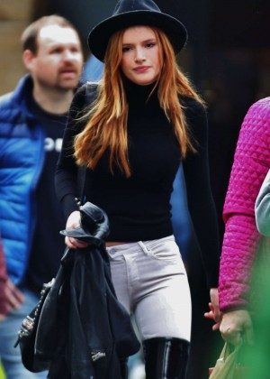 Bella Thorne in White Jeans Out in Vancouver