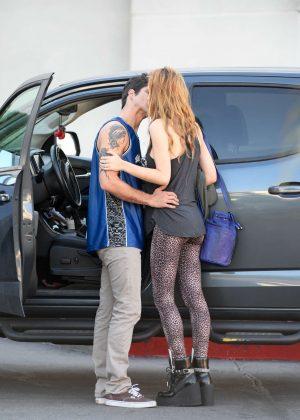 Bella Thorne Kisses Boyfriend Tyler Posey in Encino