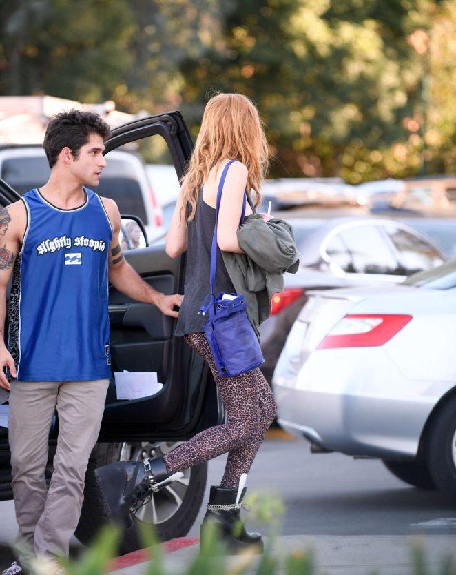 Bella Thorne Kisses Boyfriend Tyler Posey In Encino 20 Gotceleb