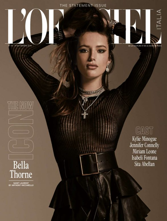 Bella Thorne - L'officiel Italy Cover Magazine (September 2019)