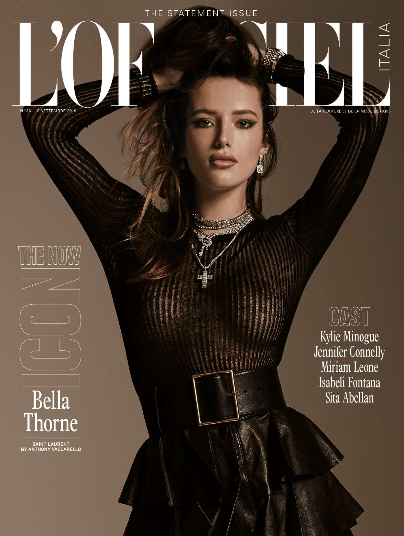 Bella Thorne - L'officiel Italy Cover Magazine (September 2019)