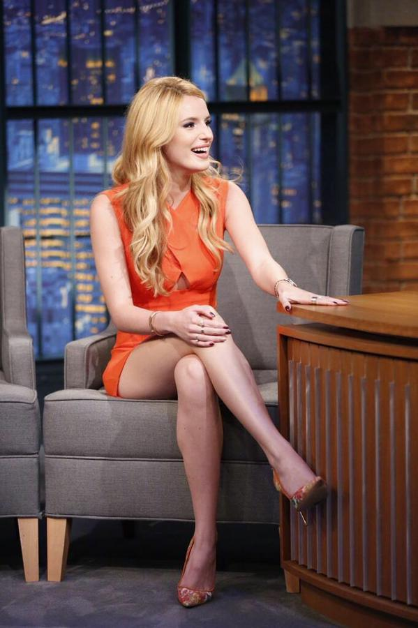 Bella Thorne - Leggy at 'Late Night with Seth Meyers' in NYC