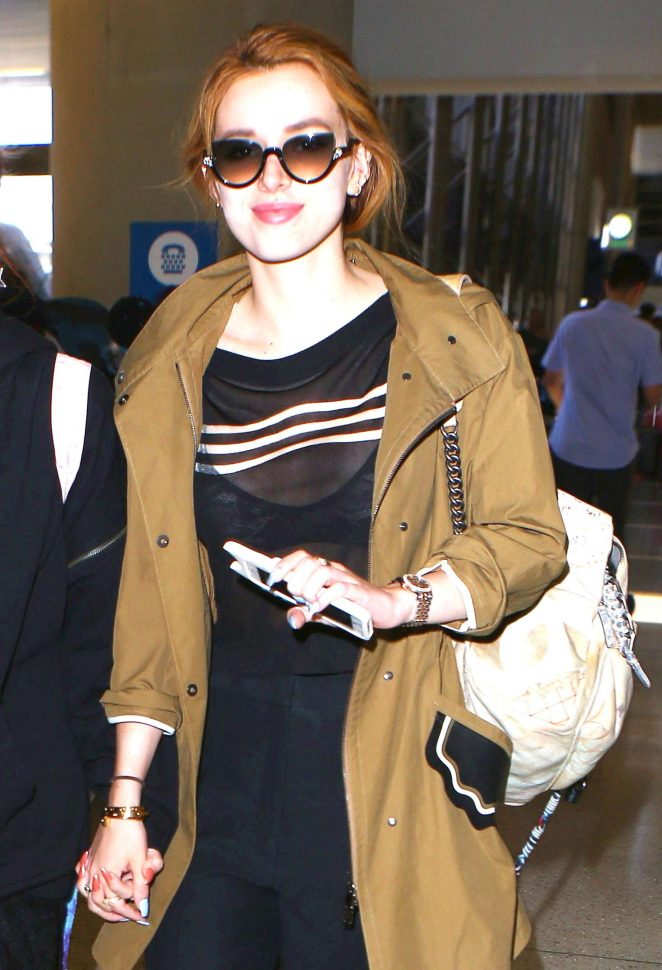 Bella Thorne - LAX Airport in Los Angeles