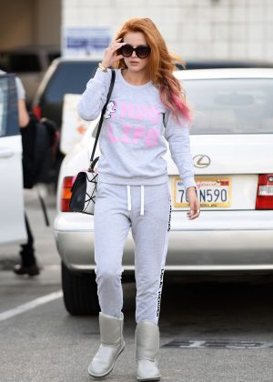 Bella Thorne - Leaving a Hair Salon in Beverly Hills