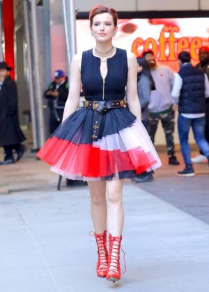 Bella Thorne - Leaving a jewelry store in New York City
