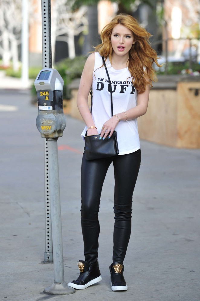 Bella Thorne - Leaving a Press Day in Los Angeles