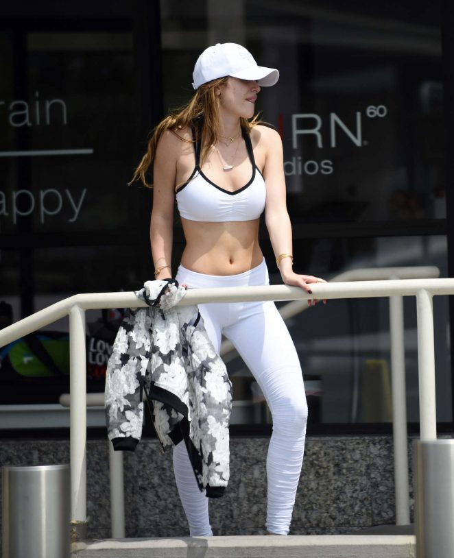 Bella Thorne – Leaving a training class in Brentwood