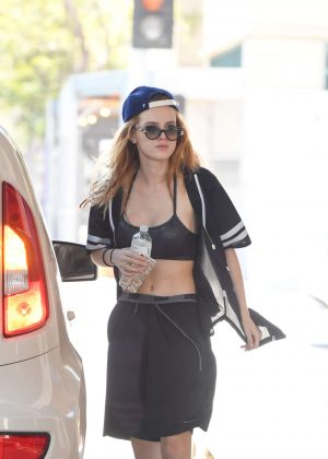 Bella Thorne - Leaving a Workout in Santa Monica