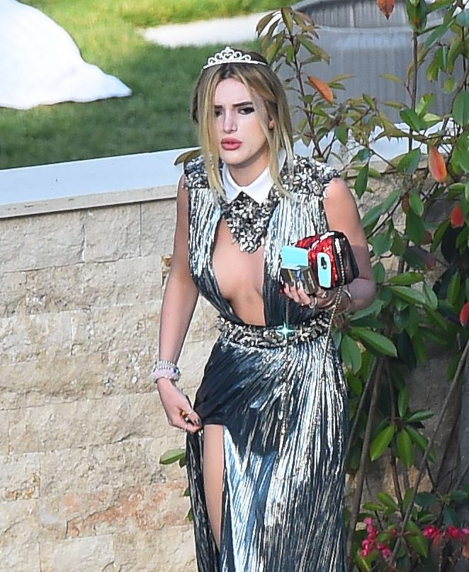 Bella Thorne - Leaving her Luxury Villa in Cannes