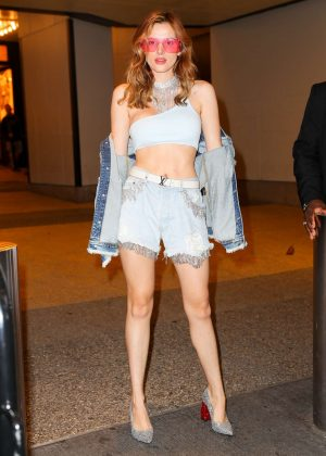 Bella Thorne - Leaving TRL studios in New York City