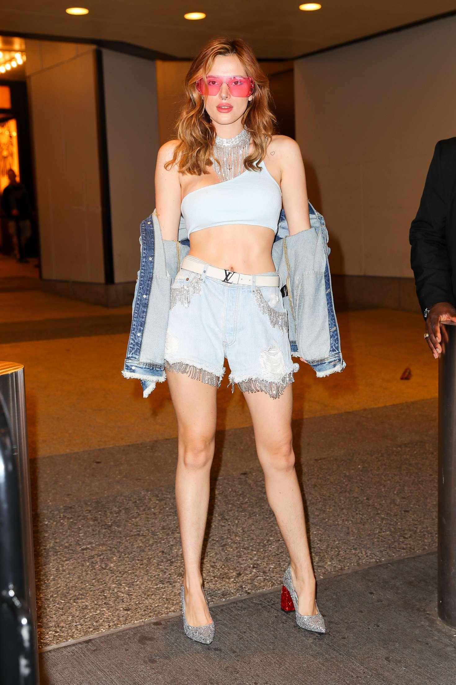 Bella Thorne – Leaving TRL studios in New York City